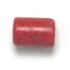 Coral Dyed Tube 6X5mm Semi-precious 16in